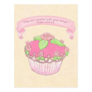 Pink Cupcake ~ Scripture Postcard