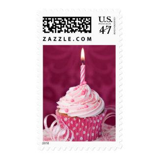 Pink cupcake stamps