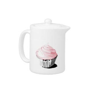 Pink cupcake teapot
