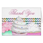 Pink Cupcake Thank You Card