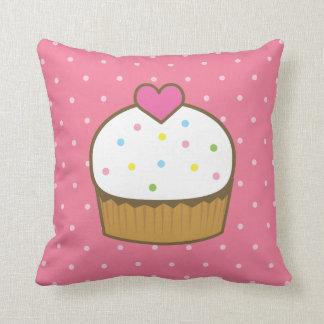 pink cupcake throw pillow
