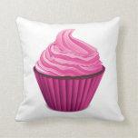 Pink Cupcake Throw Pillows