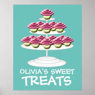 Pink Cupcake Tower Sweet Treats Sign