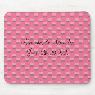 Pink cupcake wedding favors mouse pad