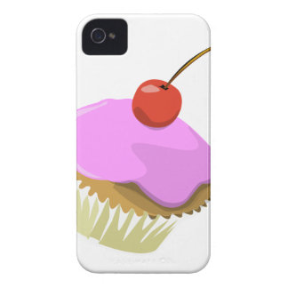 Pink cupcake with cherry iphone4/4S case