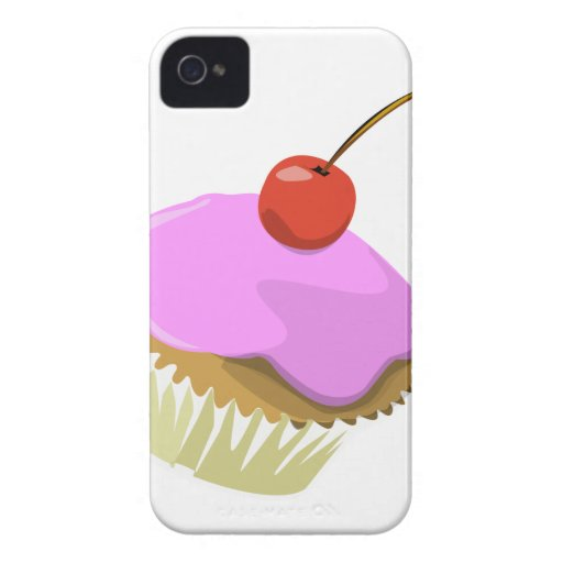 Pink cupcake with cherry iphone4/4S case iPhone 4 Case