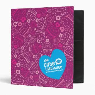 pink cupcakes 3 ring binder
