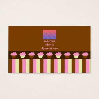 Pink Cupcakes Business Cards
