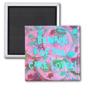 Pink Cupcakes 'cake lover'  fridge magnet