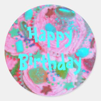 Pink Cupcakes 'Happy Birthday ' sticker