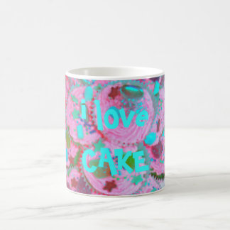 Pink Cupcakes 'i love cake' mug