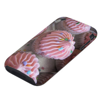 Pink cupcakes iPhone case 3gs Tough iPhone 3 Case