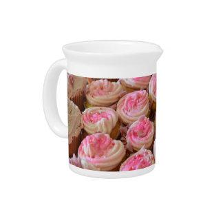 Pink Cupcakes Beverage Pitcher
