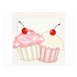 Pink Cupcakes Postcard