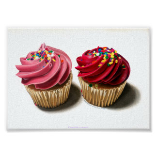 Pink Cupcakes Poster or Fine Art Print
