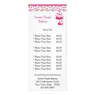 Pink Cupcakes Rack Card