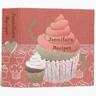 Pink Cupcakes Recipe Binder