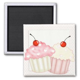 Pink Cupcakes Refrigerator Magnet