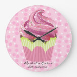 Pink Cupcakes Tasty Sweets Clock