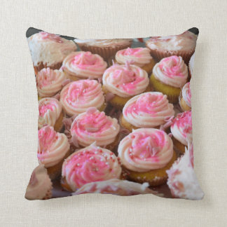 Pink Cupcakes Throw Pillow