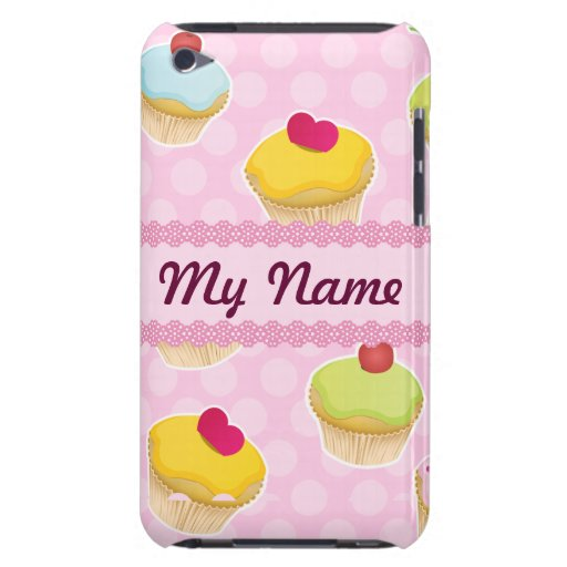 Pink Cupcakes with cute Polka Dots iPod Touch Covers