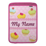 Pink Cupcakes with cute Polka Dots MacBook Sleeve