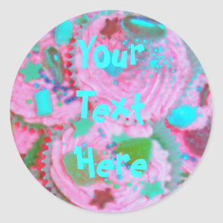 Pink Cupcakes 'Your Text' sticker