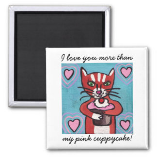 Pink Cuppycake Magnet