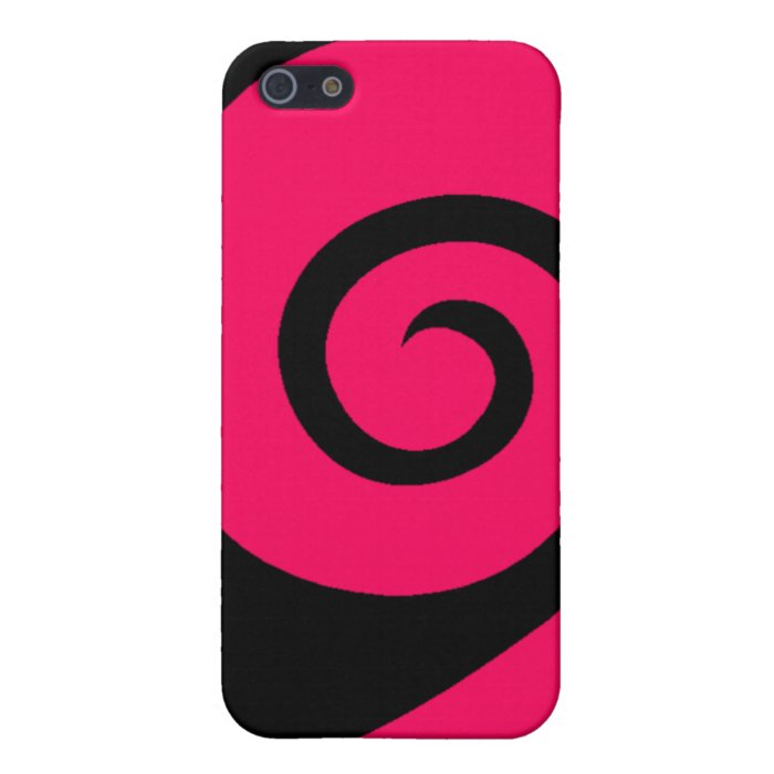 Pink Curl Cover For iPhone SE/5/5s