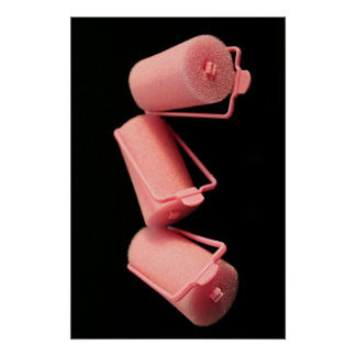 Pink Curlers Poster