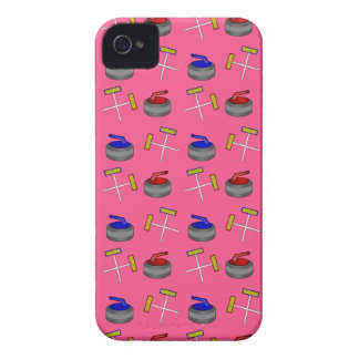 Pink curling pattern iPhone 4 Case-Mate cases