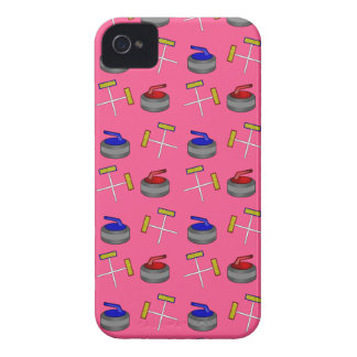 Pink curling pattern iPhone 4 case