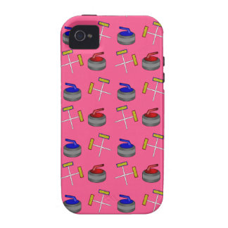 Pink curling pattern case for the iPhone 4