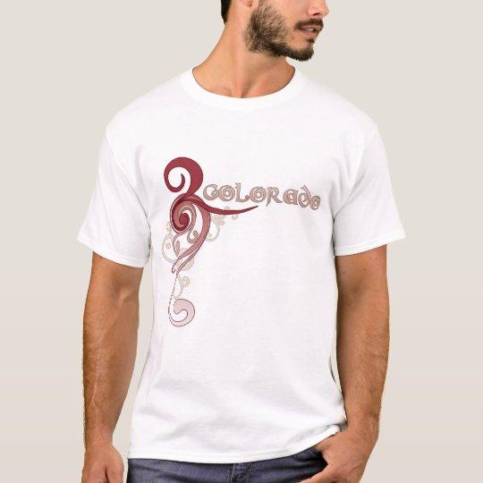 Pink Curly Swirl Colorado T-Shirt Dark