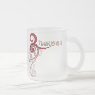 Pink Curly Swirl Hawaii Mug Glass