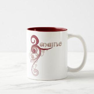Pink Curly Swirl Maine Mug