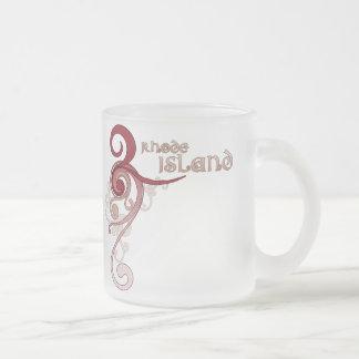 Pink Curly Swirl Rhode Island Mug Glass
