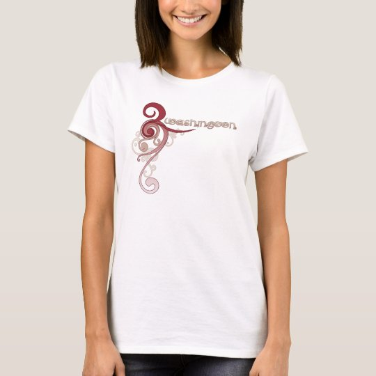 Pink Curly Swirl Washington T-Shirt