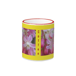 Pink Currant  Wildflower Ringer Coffee Mug
