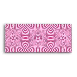 Pink curved line pattern envelope