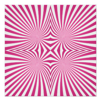 Pink curved line pattern poster