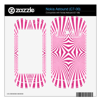 Pink curved line pattern skins for nokia astound
