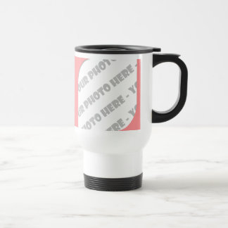 Pink Curves Photo Travel Mug - Create Your Own