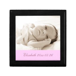 Pink Custom Baby Photo Keepsake Giftbox Keepsake Box