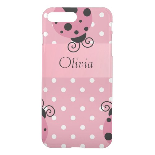 Pink Custom Ladybug iPhone 8 Plus/7 Plus Case