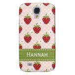Pink Custom Strawberry Galaxy S4 Case