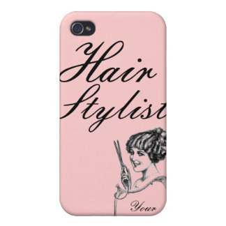 Pink Custom Vintage IPhone Case Hair Stylist iPhone 4 Cover