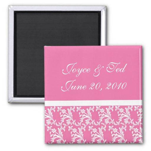 Pink Custom Wedding Magnets