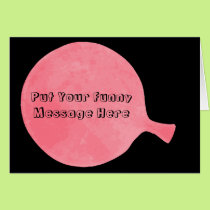 Pink Custom Whoopee Cushion Humorous Greeting Card
