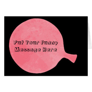 Pink Custom Whoopee Cushion Humorous Greeting Card
